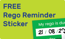 Get Rego Reminder Sticker